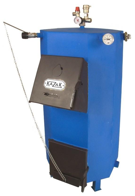 Пример установки регулятора горения на котел Казак