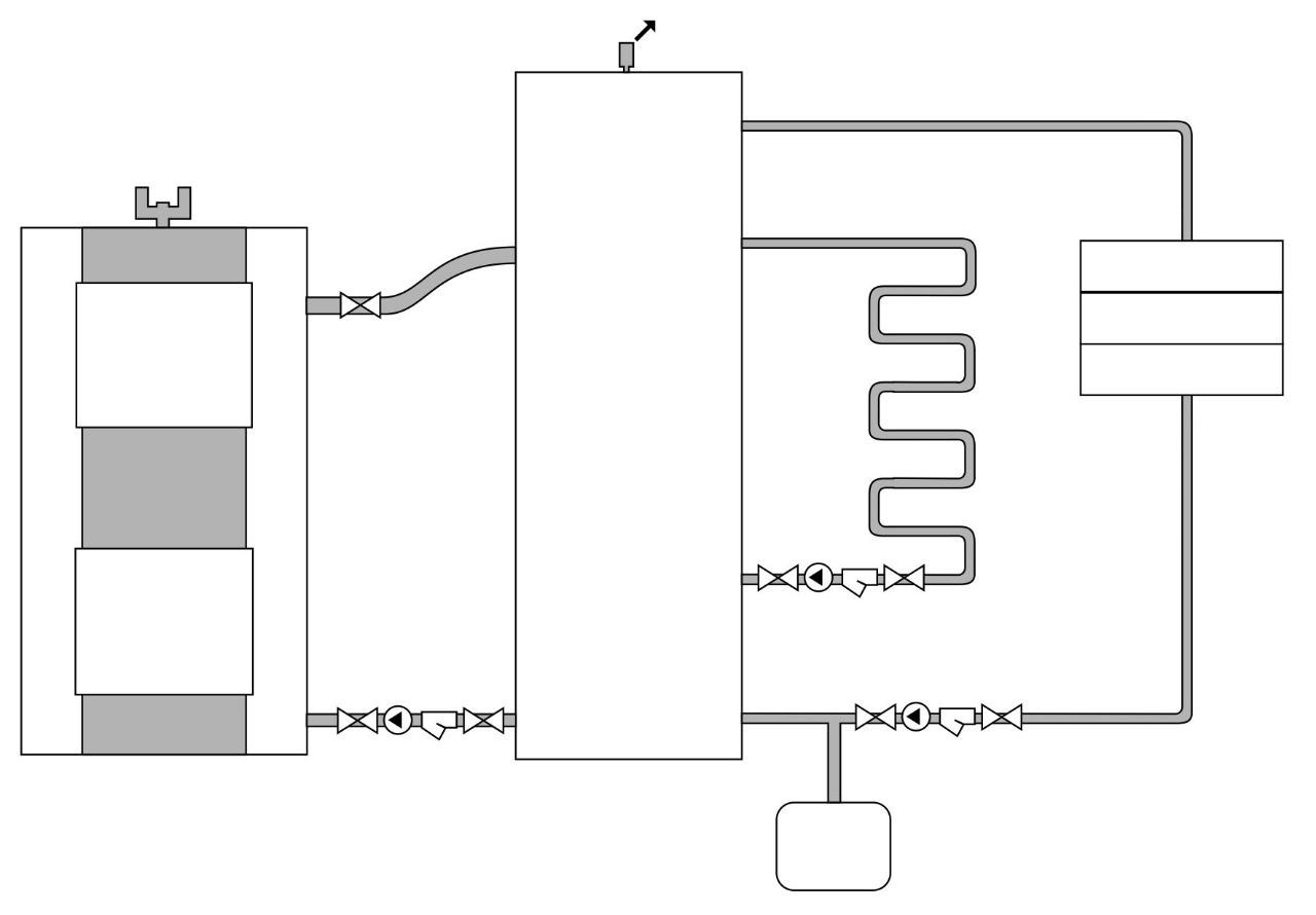 Теплоаккумулятор отопительного контура